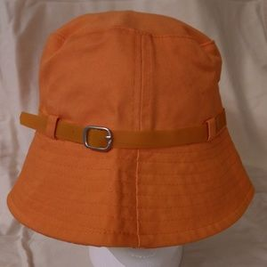 Orange summer beach hat